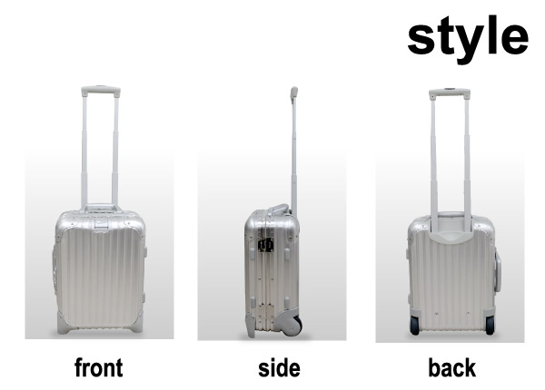 RIMOWA TOPAS rimowa Topaz Mini Trolley 20 l silver suitcase carry case 2-wheel casters