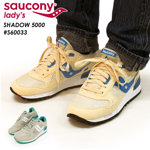 brand new 80907 2a647 サッカニー SAUCONY shadow SHADOW 5000 sneakers running shoes sports shoes  low-frequency cut cushion race up Lady's