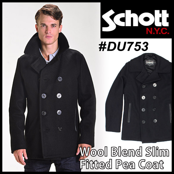 socalworks | Rakuten Global Market: Shot SCHOTT Melton wool P coat ...