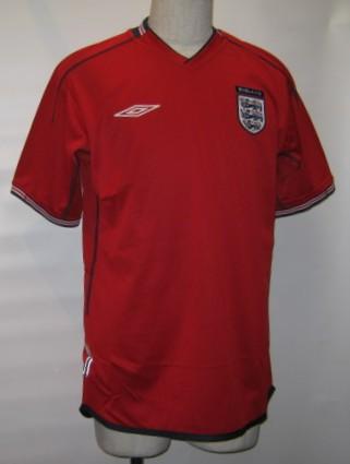 アンブロ 2002-03 イングランド アウェイ 半袖 レプリカ ゲームシャツ