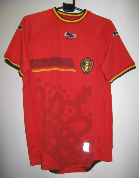 BURRDA 2014-15 ベルギー ホーム 半袖 レプリカ ゲームシャツ