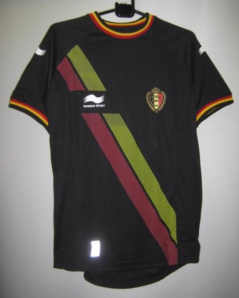 BURRDA 2014-15 ベルギー アウェイ 半袖 レプリカ ゲームシャツ