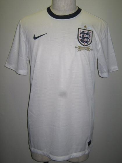 ナイキ 2013-14 nike-580957 イングランド DF 半袖 ホーム レプリカ ゲームシャツ