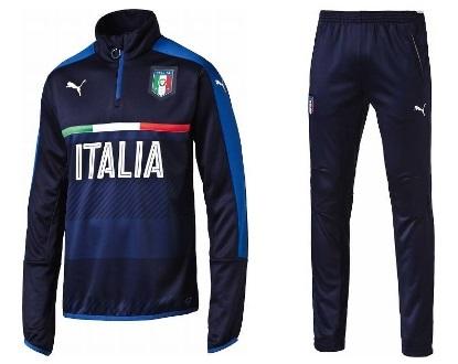 プーマ 2016-17 748854-748980-05 FIGC Italia イタリア 1/4ジップ トレーニング トップ・パンツ 上下セット