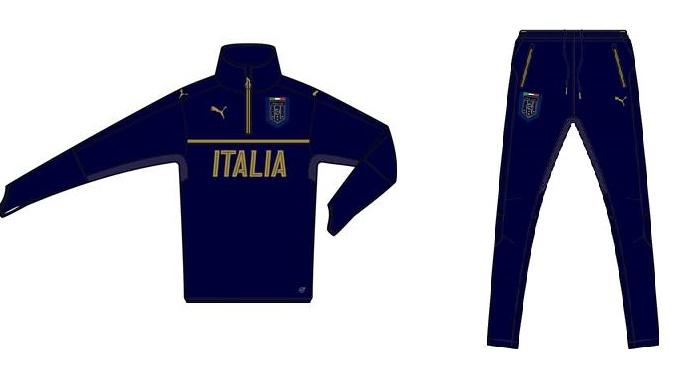 プーマ 2016-17 751132-751133-10 イタリア FIGC ITALIA 1/4 ジップ トレーニング トップ・パンツ 上下セット