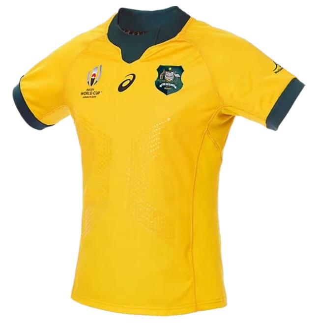 アシックス 2019  2111A173-750 オーストラリア ワラビーズ ホーム ゲーム ジャージ レプリカ ラグビー
