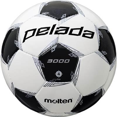 モルテン F4L3000-6 6球セット F4L3000 ペレーダ3000 手縫い ホワイト×メタリックブラック サッカー ボール 4号球