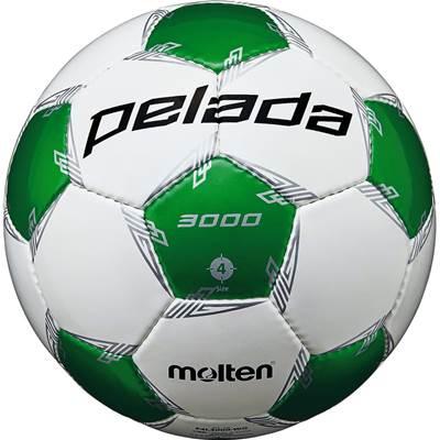 モルテン F4L3000-WG-6 6球セット F4L3000-WG ペレーダ3000 手縫い ホワイト×メタリックグリーン サッカー ボール 4号球