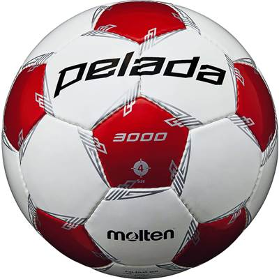 モルテン F4L3000-WR-6 6球セット F4L3000-WR ペレーダ3000 手縫い ホワイト×メタリックレッド サッカー ボール 4号球