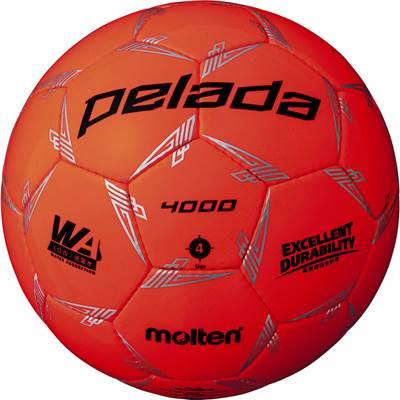 モルテン F4L4000-O-6 6球セット F4L4000-O ペレーダ4000 手縫い 蛍光オレンジ サッカー ボール 4号球