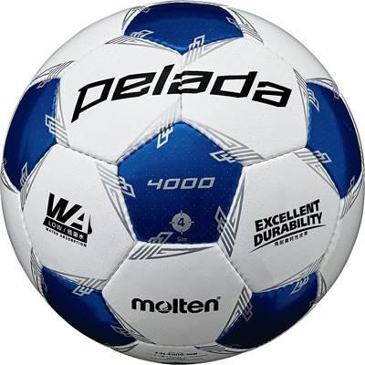 モルテン F4L4000-WB-6 6球セット F4L4000-WB ペレーダ4000 手縫い ホワイト×メタリックブルー サッカー ボール 4号球