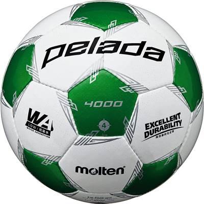 モルテン F4L4000-WG-6 6球セット F4L4000-WG ペレーダ4000 手縫い ホワイト×メタリックグリーン サッカー ボール 4号球