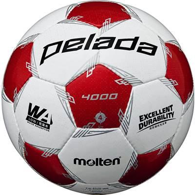 モルテン F4L4000-WR-6 6球セット F4L4000-WR ペレーダ4000 手縫い ホワイト×メタリックレッド サッカー ボール 4号球