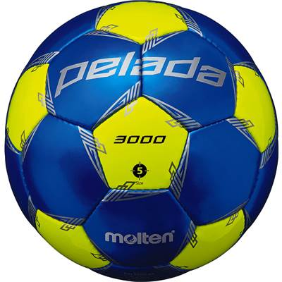 モルテン F5L3000-BL-6 6球セット F5L3000-BL ペレーダ3000 手縫い メタリックブルー×蛍光イエロー サッカー ボール 5号球