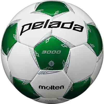 モルテン F5L3000-WG-6 6球セット F5L3000-WG ペレーダ3000 手縫い ホワイト×メタリックグリーン サッカー ボール 5号球