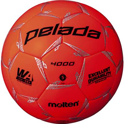 モルテン F5L4000-O-6 6球セット F5L4000-O ペレーダ4000 手縫い 蛍光オレンジ サッカー ボール 5号球