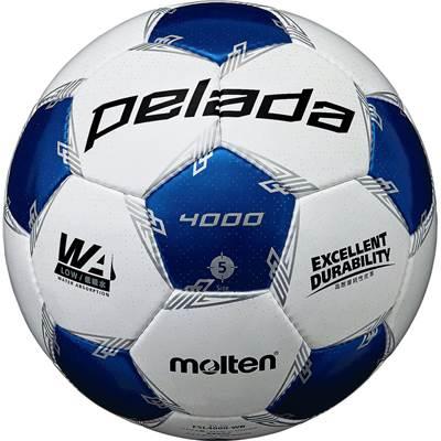 モルテン F5L4000-WB-6 6球セット F5L4000-WB ペレーダ4000 手縫い ホワイト×メタリックブルー サッカー ボール 5号球