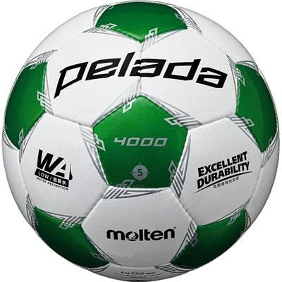 モルテン F5L4000-WG-6 6球セット F5L4000-WG ペレーダ4000 手縫い ホワイト×メタリックグリーン サッカー ボール 5号球