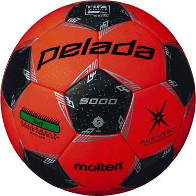 モルテン F5L5000-OK-6 6球セット F5L5000-OK ペレーダ5000芝用 アセンテック メタリックブラック×蛍光オレンジ サッカー ボール 5号球