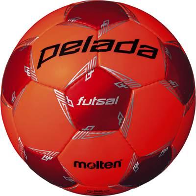 モルテン F9L3000-OR-6 6球セット F9L3000-OR ペレーダフットサル3000 手縫い 蛍光オレンジ×メタリックレッド フットサル ボール 4号球