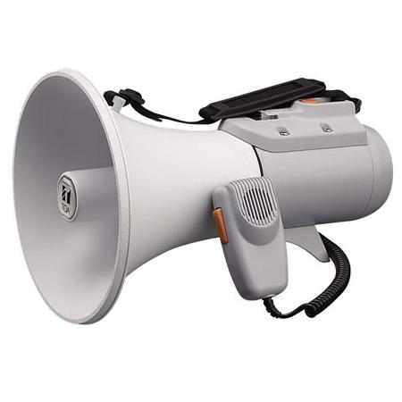 [ ER-2115W ] TOA メガホン 拡声器 ショルダー型 中型メガホン 15W ホイッスル音付 [ ER2115W ]