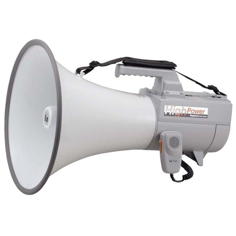【送料無料】[ ER-2130W ] TOA 拡声器 ショルダー型 大型メガホン 30W ホイッスル音付 [ ER2130W ]