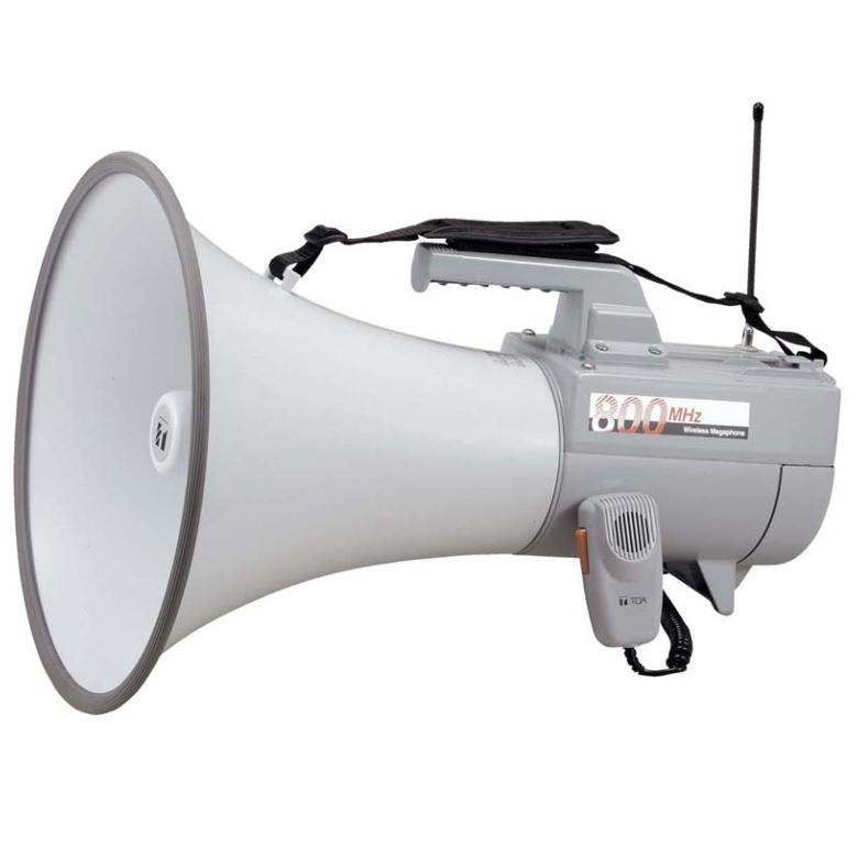[ ER-2830W ] TOA メガホン 拡声器 ワイヤレス対応メガホン(800MHz帯) 大型メガホン 30W ホイッスル音付 [ ER2830W ]