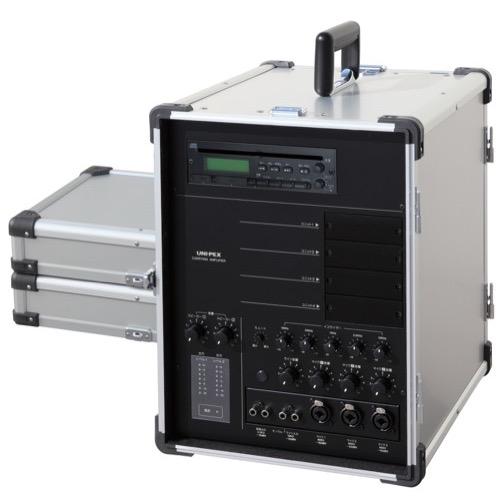 送料無料 CGA-704CDA UNI 新作 人気 PEX ユニペックス ポータブルアンプ 開店記念セール キャリングアンプ CD SD 2 出力 USB付 CGA704CDA タイプ 35W x