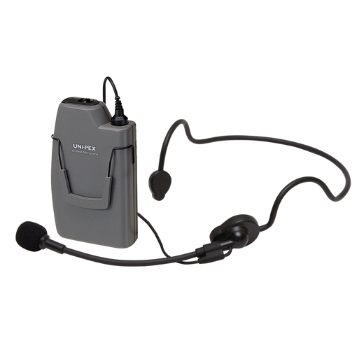 [ WM-3130 ] UNI-PEX ユニペックス 300MHz帯 ワイヤレスマイク(ヘッドセットタイプ)(乾電池仕様)ハンズフリーマイク [ WM3130 ]