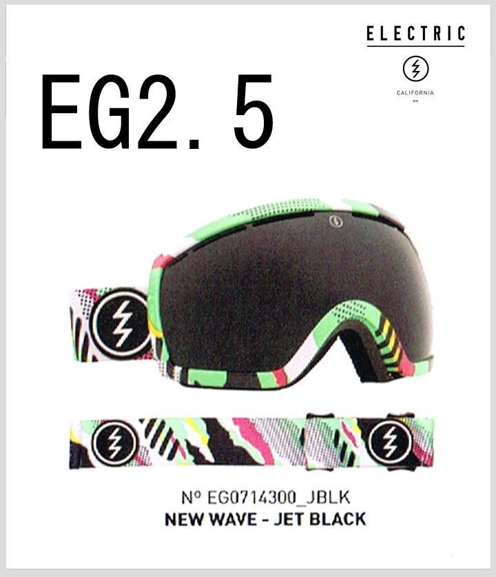 【30%OFF】【送料無料】14-15 Snow Goggle 『 ELECTRIC 』【 EG2.5 】【 NEW WAVE 】JET BLACK ( EG0714300_JBLK )【i】