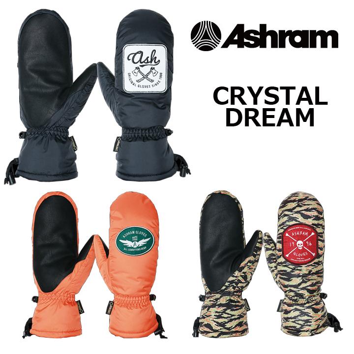 ASHRAM アシュラム CRYSTAL DREAM SNOW GLOVE 16-17 送料無料 30%OFF