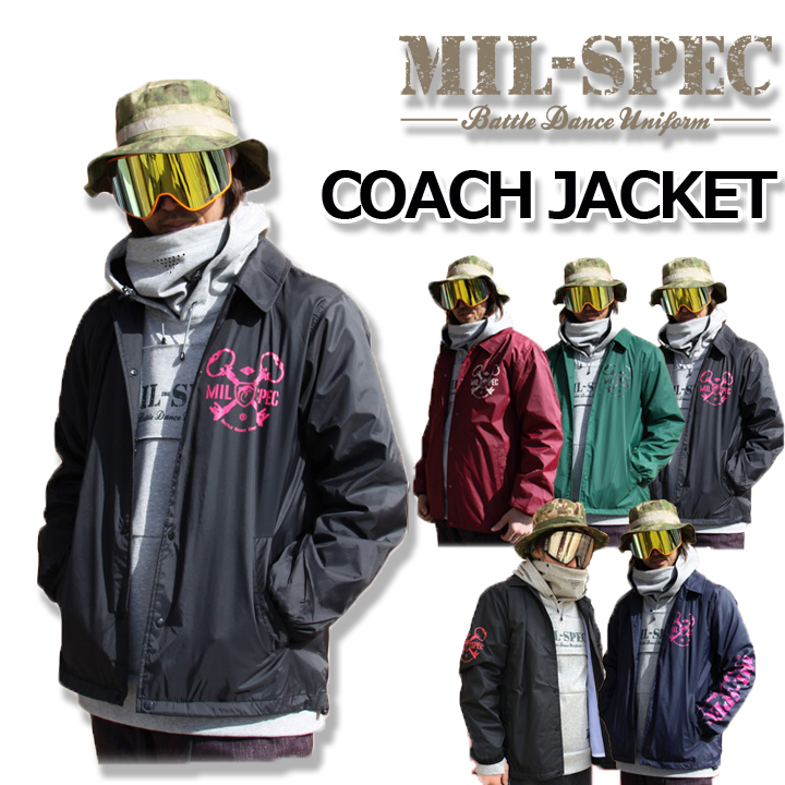 MIL-SPEC ミルスペック COACH JACKET 撥水コーチジャケット