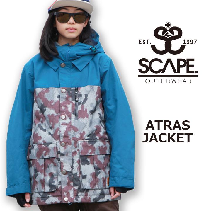 SCAPE エスケープ ATRAS JACKET アトラスジャケット SPRAY CAMO 16-17 送料無料 45%OFF 17490円引き