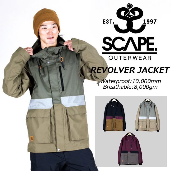 17-18 SCAPE エスケープ REVOLVER JACKET リボルバージャケット 30%OFF 送料無料