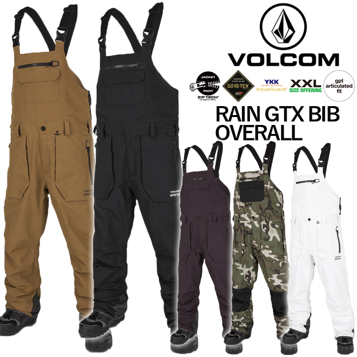 19-20 VOLCOM ボルコム RAIN GTX BIB OVERALL レインジーティーエックスオーバーオール MENS メンズ 国内正規品 送料無料 即出荷