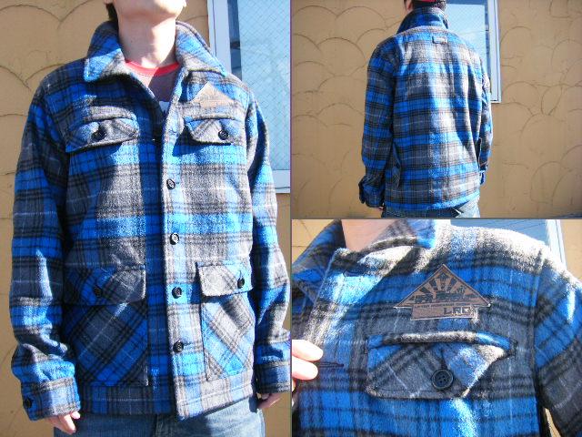 授与 40%OFF秋冬最新 エルアールジー 海外人気ストリートブランドのアートなウールネルジャケット これからの時期に最適ですよ 09LRG CRUISIN FOR 年中無休 BLUE A JACKET BOOZE GIBSON M