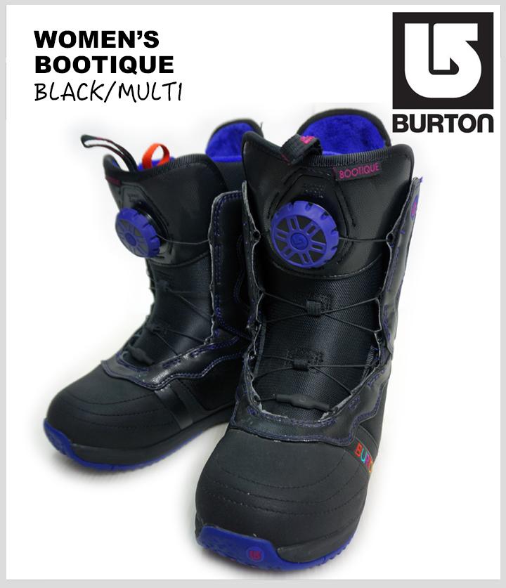 《送料無料》 20%OFF!! BURTON WOMEN'S SNOWBOARD BOOTS【BOOTIQUE】【BLACK/MULTI】【W US 6.5 inch / W JP 23.5cm】【u】【14】