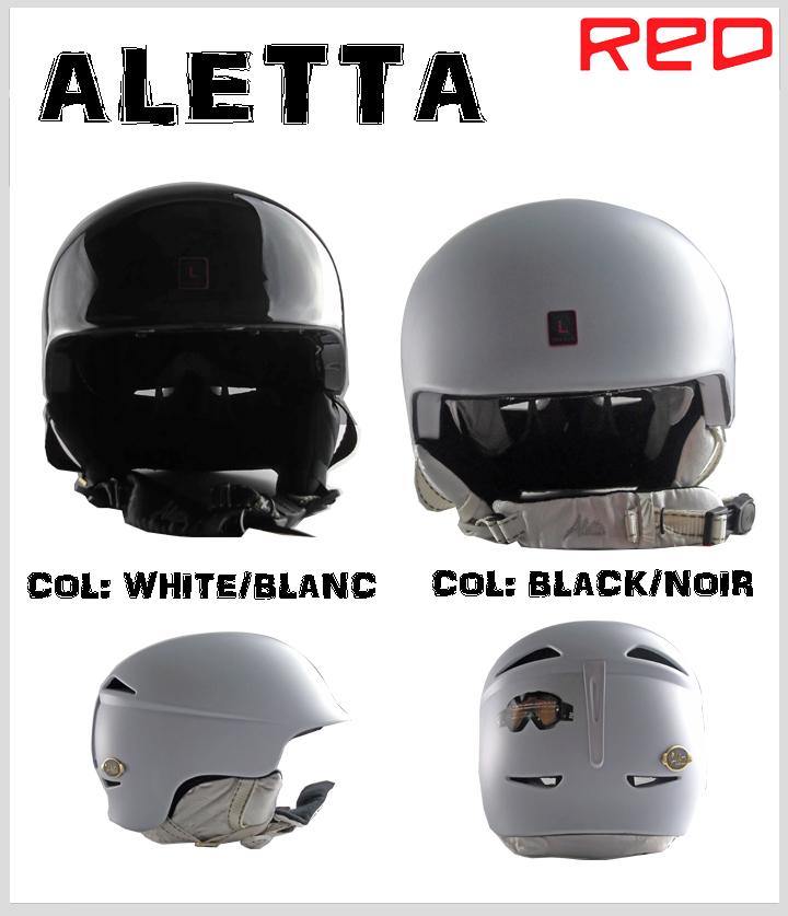 《1万円以上ご購入で送料無料》40%OFF!!R.E.D. HELMET ALETTA 【L】BLACK/NOIR, WHITE/BLANC【u】