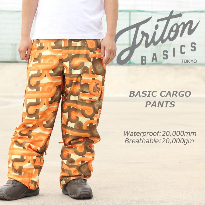 TRITON トライトン BASIC CARGO PANTS ベーシックカーゴパンツ ORANGE 40%OFF