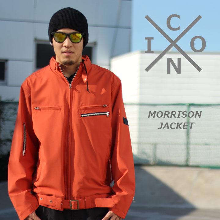 スノーボードウェア ウエアー SNOWBOARD WEAR ICON アイコン 新作アイテム毎日更新 TWILL JACKET モリソンジャケット MORRISON 40%OFF セール品 RUST