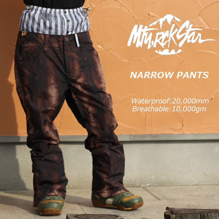 MTN.ROCKSTAR マウンテンロックスター NARROW PANTS ナローパンツ BLACK DENIM 30%OFF