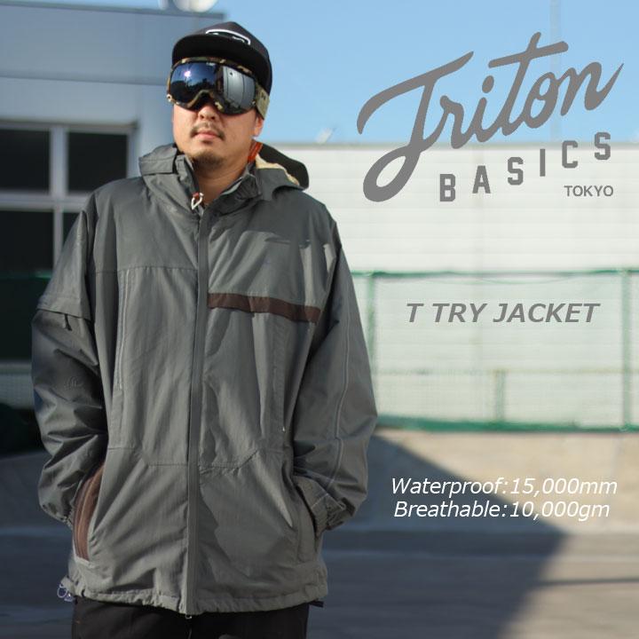 TRITON トライトン T TRY JACKET ティートライジャケット GRAY 50%OFF