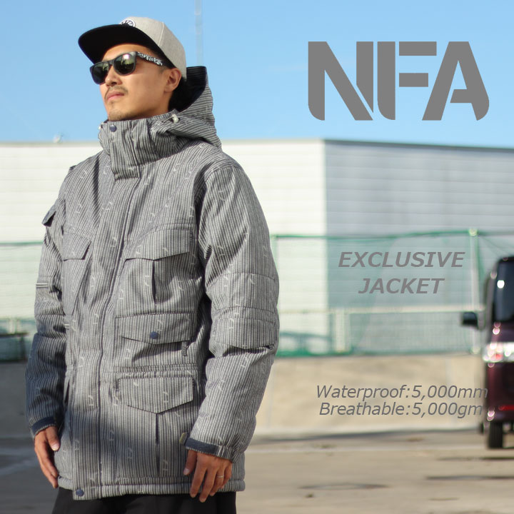 NFA エヌエフエー EXCLUSIVE JACKET エクスクルーシブジャケット NAVY 激安特価品