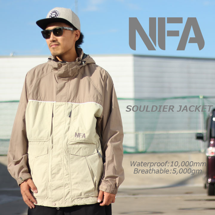 高価値 NFA SOULDIER エヌエフエー SOULDIER JACKET JACKET ソルジャージャケット NFA SAND/LIGHTBROWN 激安特価品, クシビキマチ:9035d48b --- business.personalco5.dominiotemporario.com