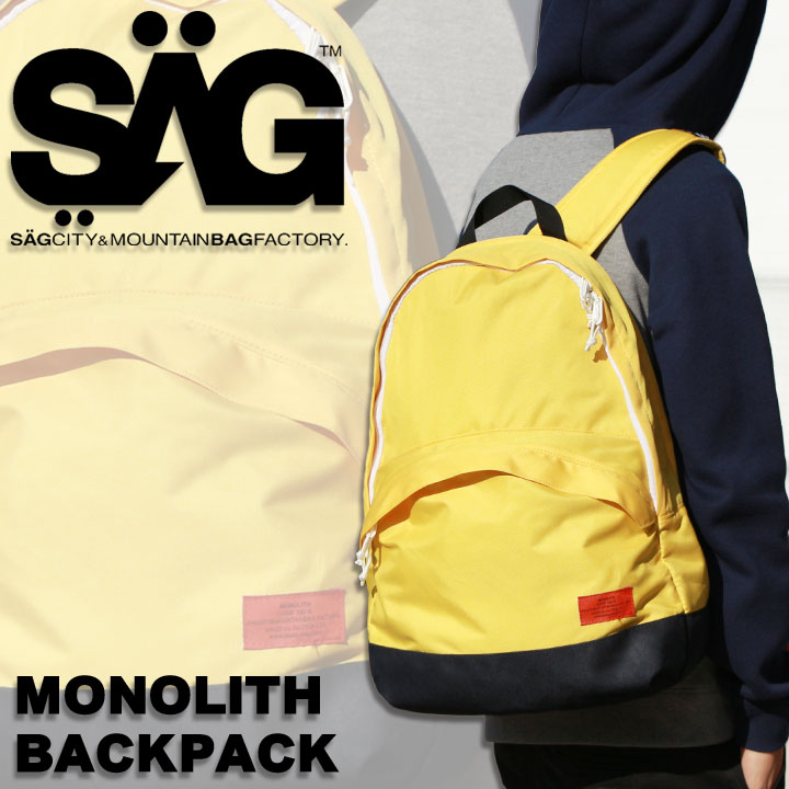 SAGLIFE サグライフ MONOLITH BACKPACK モノリス バックパック YELLOW 40%OFF