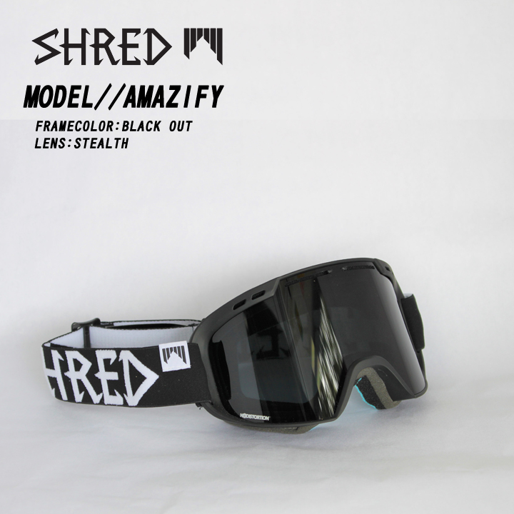 SHRED シュレッド AMAZIFY BLACKOUT GREY STEALTH GOGGLE ゴーグル 送料無料 35%OFF