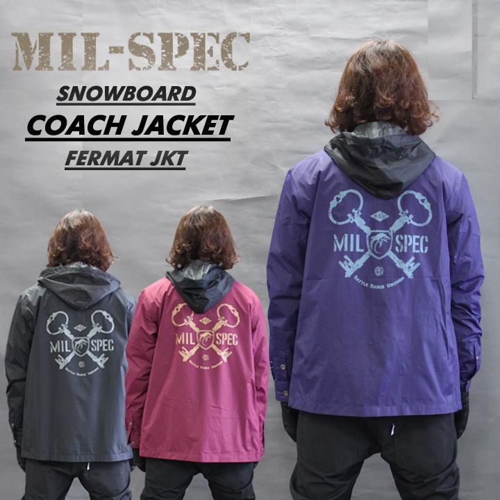 MIL-SPEC ミルスペック FERMAT JACKET フェルマージャケット 耐水 透湿 メンズ レディース スノーボードウェア-