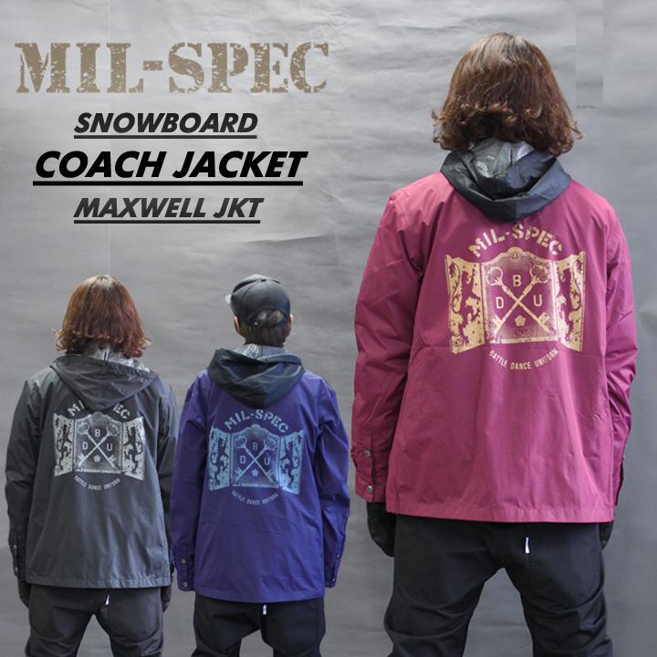 MIL-SPEC ミルスペック MAXWELL JACKET マックスウェルジャケット 耐水 透湿 メンズ レディース スノーボードウェア-