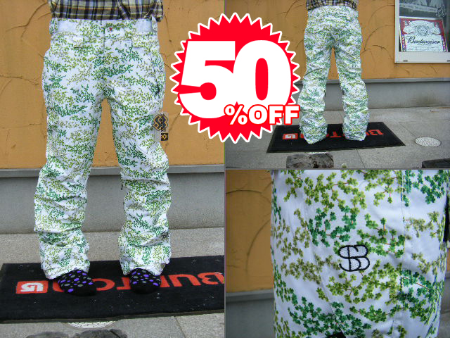 09SPECIAL BLEND SNOWBOARD WEAR DUTCHESS PANT(WOMENS ELECTRA FIT) Green Flower Power 【S】
