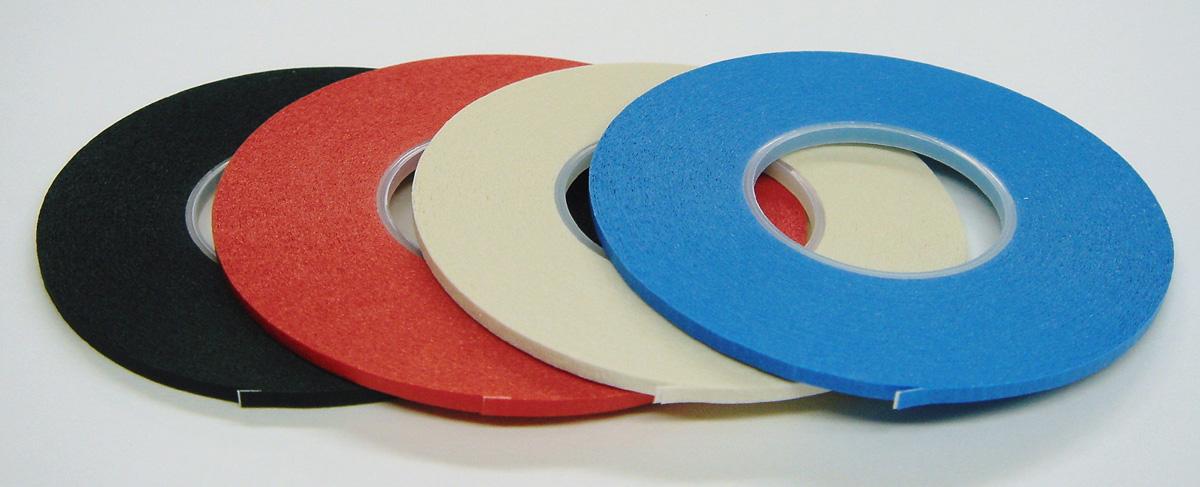 箱売り特価!1箱(10巻入り)ボディラインテープBody-Line TapeICテープ巾1.0mm/16m巻黒・赤・白・青